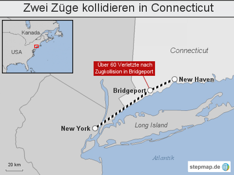 USA: Zwei Züge kollidieren in Connecticut
