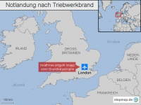 Heathrow: Notlandung nach Triebwerkbrand