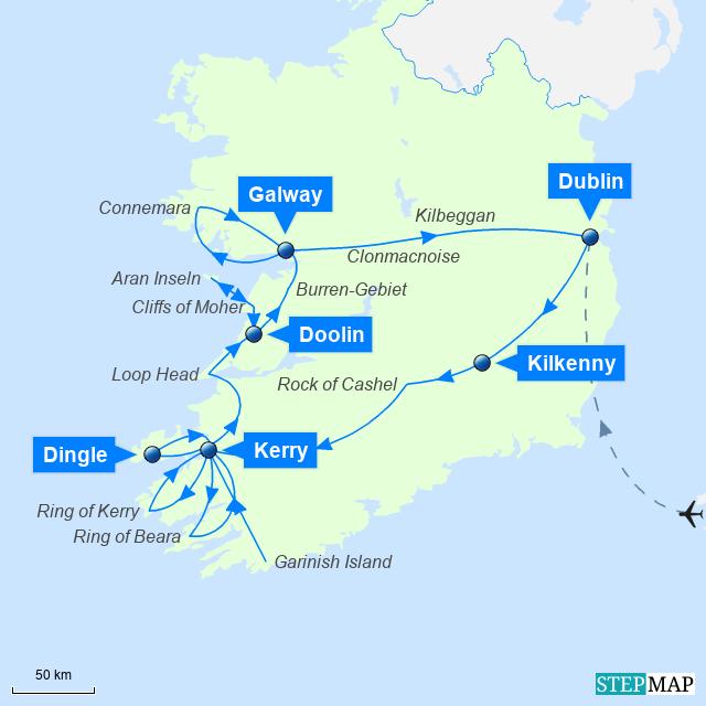 Irland Mietwagen Rundreise - Goldener Südwesten