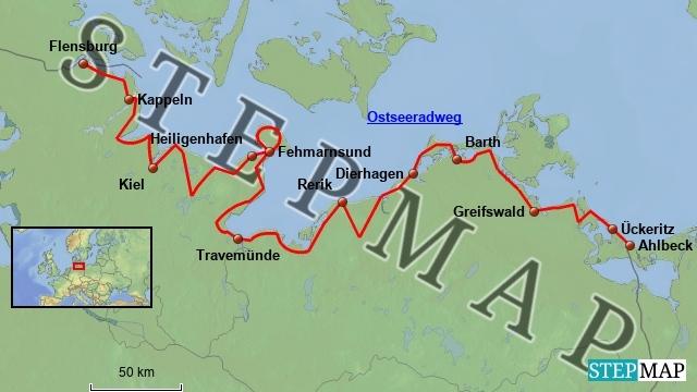 ostseeradweg karte Ostseeradweg | Fahrradtouren in Deutschland