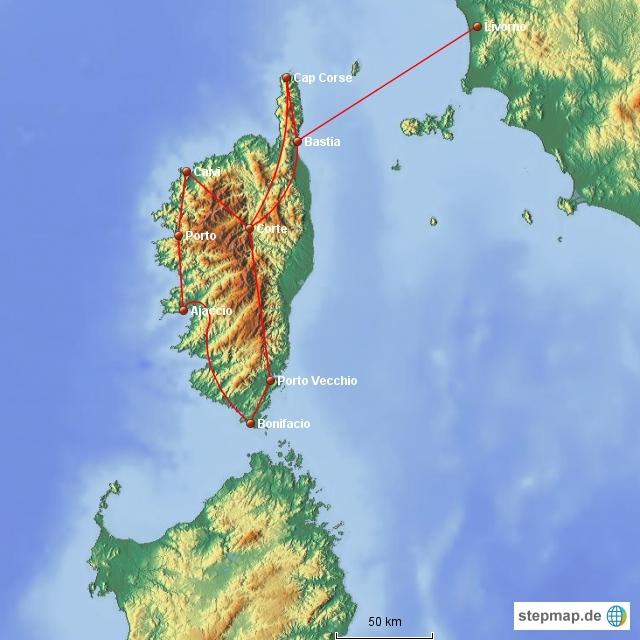 Altmockritz on Tour auf Korsika
