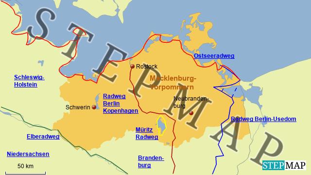 Radwege in Mecklenburg-Vorpommern