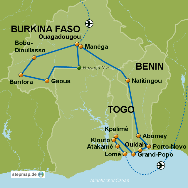 Burkina Faso Benin Togo Ghana_2014