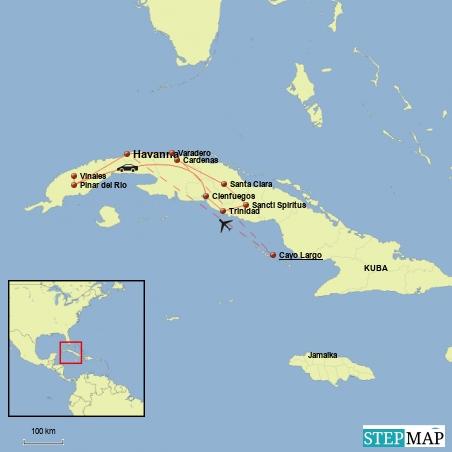 Kuba Karte Rundreise.Kuba Reisebericht Nach Der Reise Und Karte