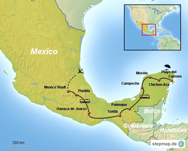 Linienbus Mexico