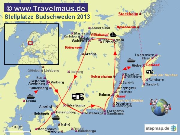 Stellplätze Südschweden