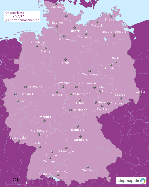 Zuständige Amtsgerichte (c) Hormonmädchen.de