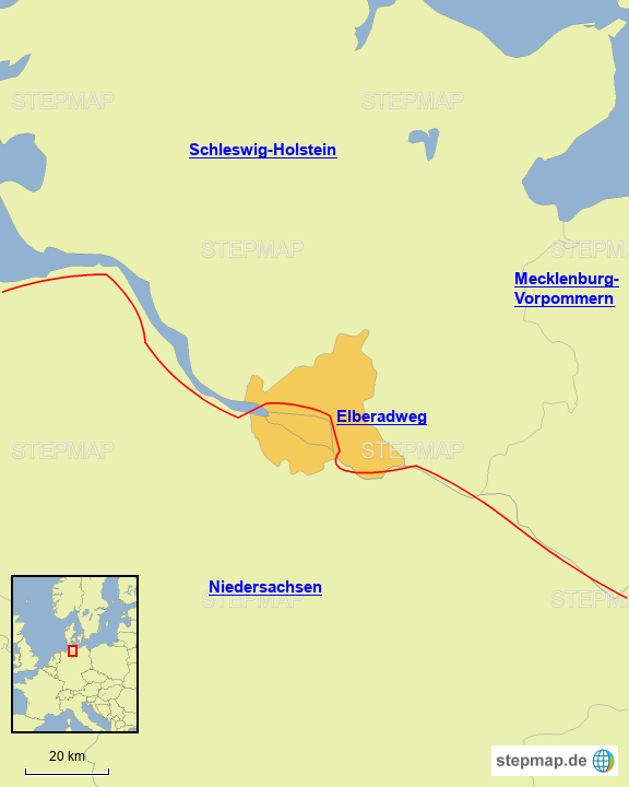 Radwege in Hamburg