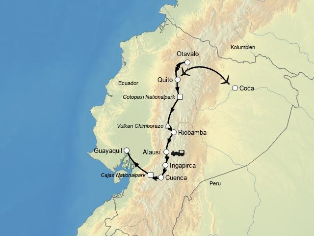Ecuadors Anden und Amazonas