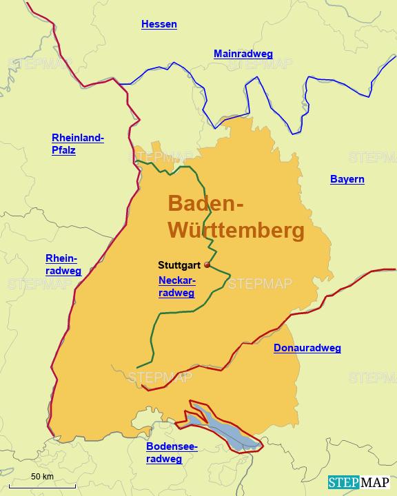Radwege in Baden-Württemberg