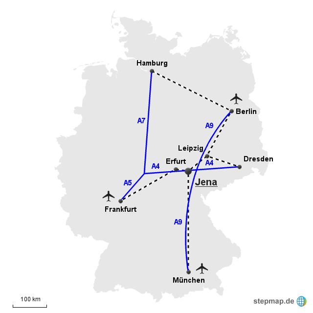 Verbindungen nach Jena