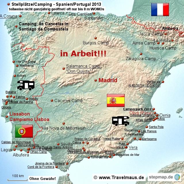 Stellplätze: Iberische Halbinsel