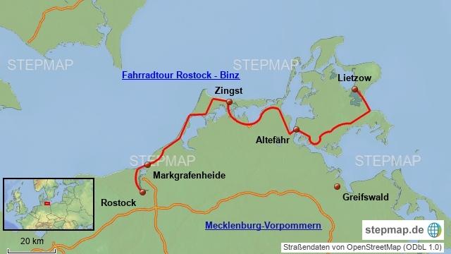 Fahrradtour Rostock Binz