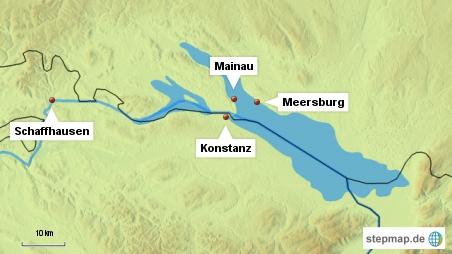 Die Karte ist ein bisschen falsch... Konstanz liegt natürlich auf deutscher Seite, nicht auf schweizerischer!