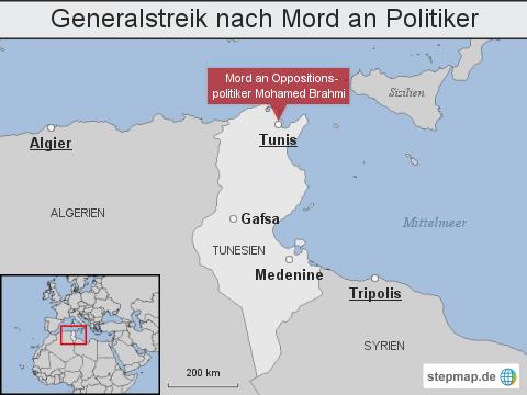 Tunesien: Generalstreik nach Mord an Politiker