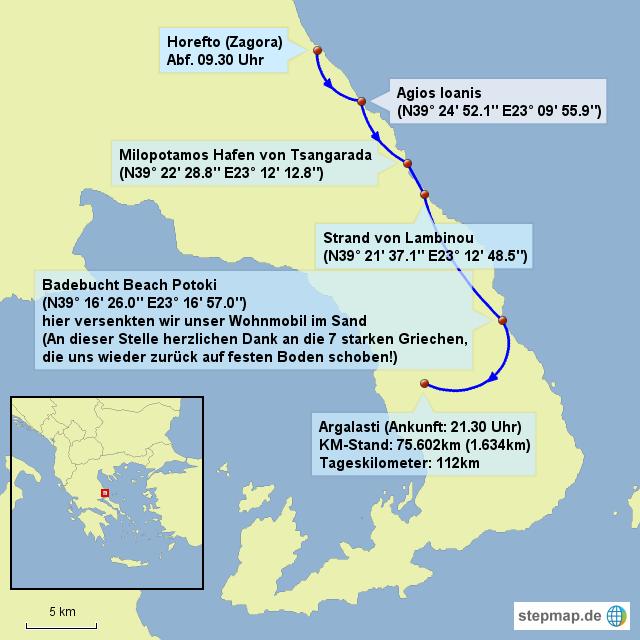 Pilion 3.Karte