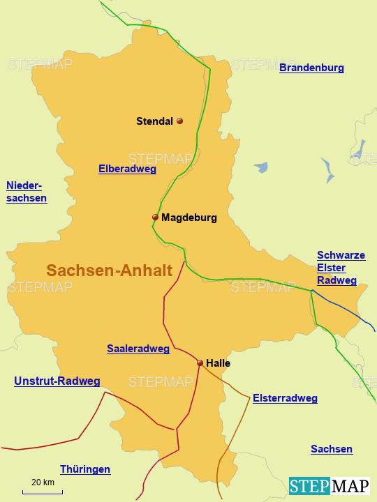 Radwege in Sachsen-Anhalt