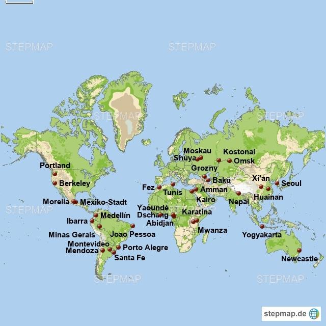 Partneruniversitäten weltweit