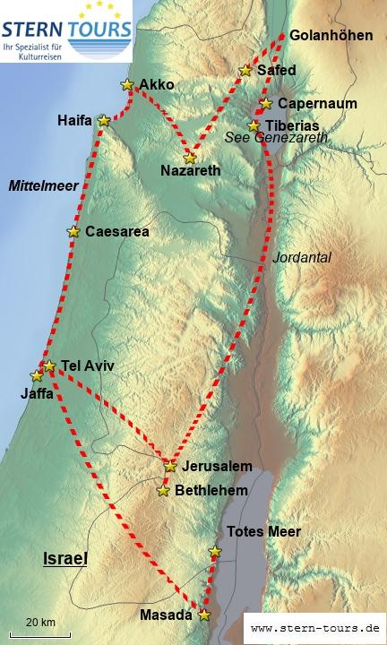 Höhepunkte Israels - gezoomt