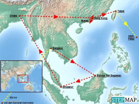 Der erste Teil dieser Region: Asien