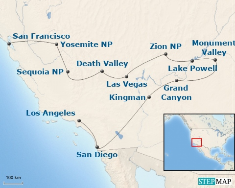 3 Wochen USA - San Francisco, Nationalparks und Los Angeles