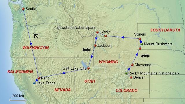 USA-Nordwesten-Rundreise mit Heideker Reisen