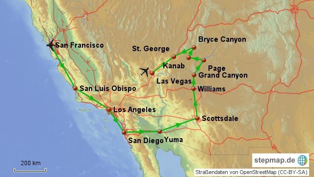 Mietwagenrundreise Westen USA