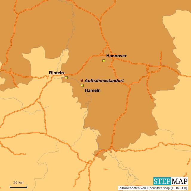 Aufnahmestandort Weserbergland (Süd-Niedersachsen-Zoom)