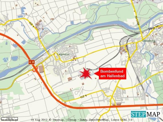 Fliegerbombe in Leipheim