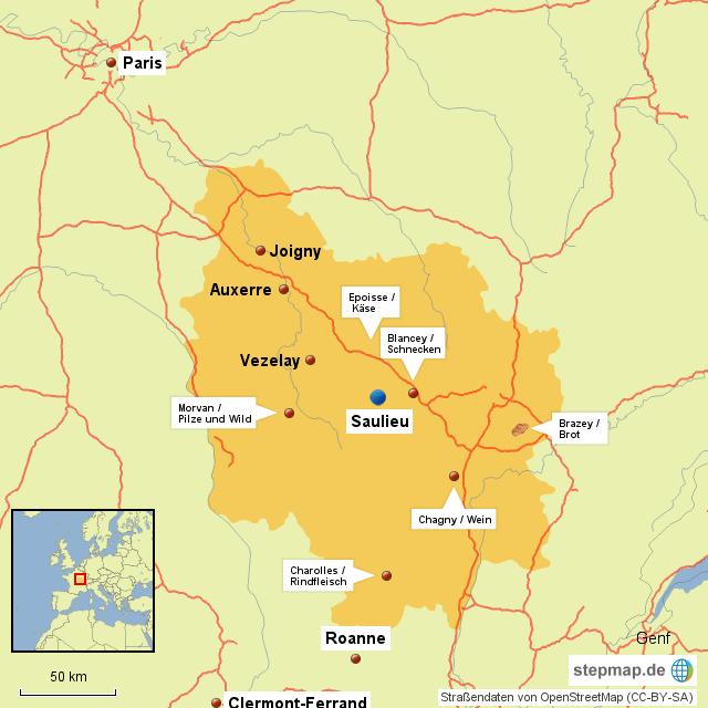 Karte 32 - Burgund