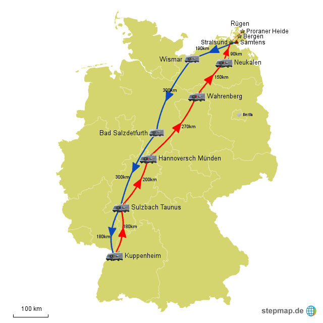 Fahrt nach Rügen 2013