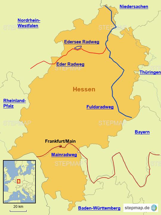 Radwege in Hessen