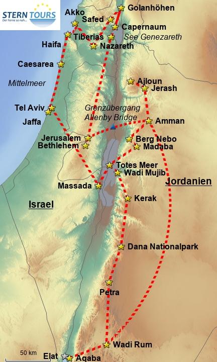 Höhepunkte Jordaniens & Israels