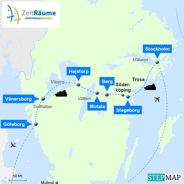 Schweden - Göta Kanal - Große Schwedenreise