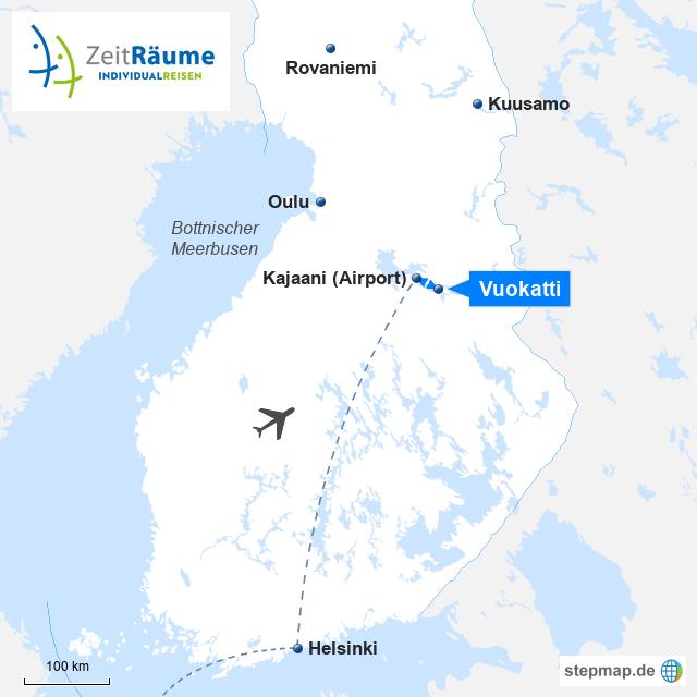 Finnisch-Lappland - Outdoor-Spaß in Vuokatti