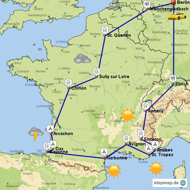 Frankreich-Tour 2008