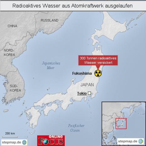Radioaktives Wasser aus Atomkraftwerksruine in Fukushima ausgelaufen