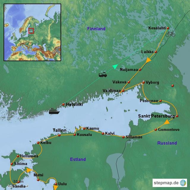 Iron-Curtain-Trail 2013 bis Estland