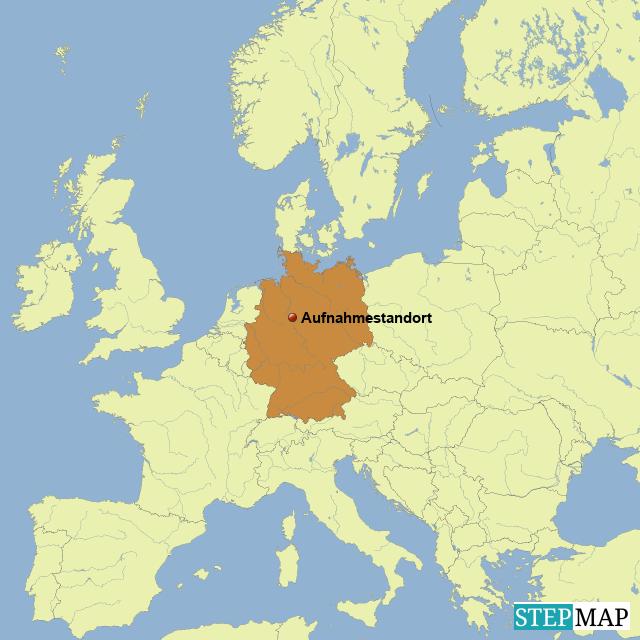 Aufnahmestandort Weserbergland (Übersicht Europa)