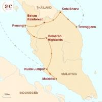 Routenkarte zur Reise Unbekanntes Asien entdecken