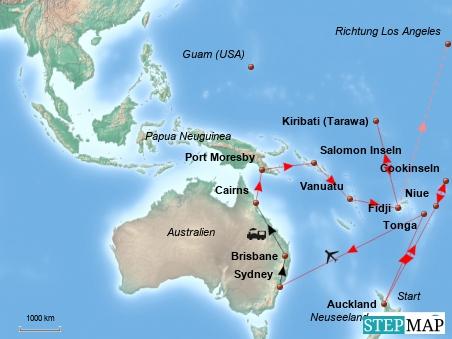 ... und Teil 2 zeigt, wie es ab Auckland weitergeht.