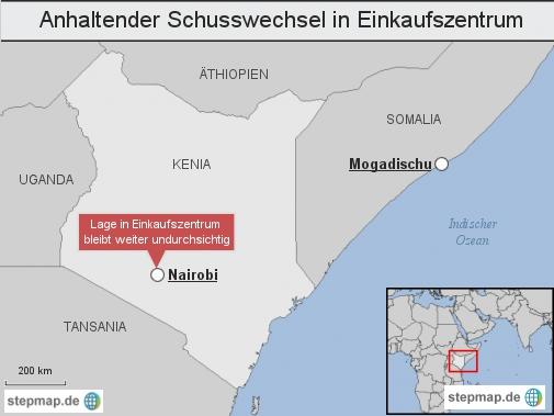 Kenia: Anhaltender Schusswechsel in Einkaufszentrum