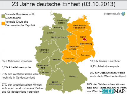 23 Jahre deutsche Einheit (03.10.2013)