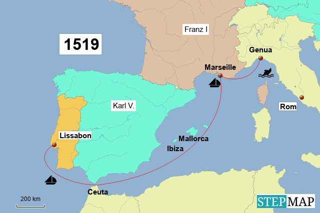 Lissabon - Genua
