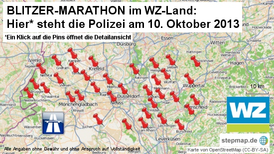 1. bundesweiter Blitzer-Marathon