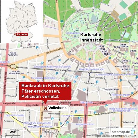 Bankraub in Karlsruhe
