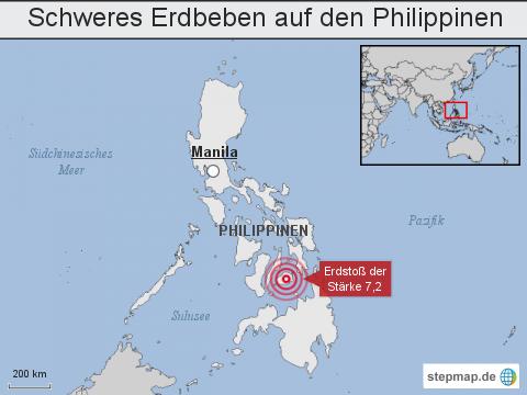 Schweres Erdbeben auf den Philippinen
