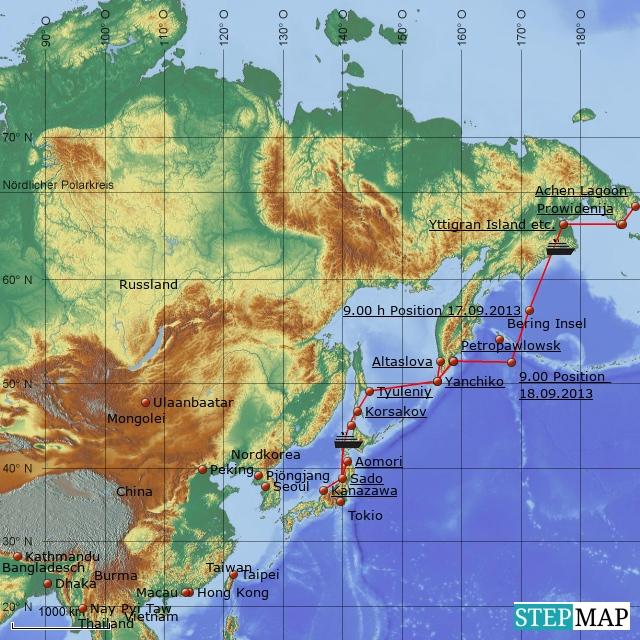 Von Nome nach Kanazawa