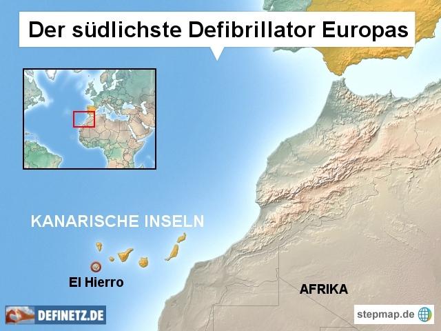 Südlichster Defibrillator Europas