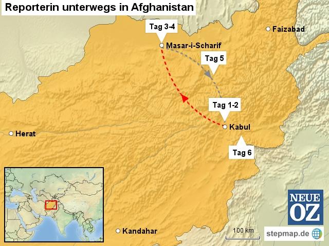Reporterin unterwegs in Afghanistan